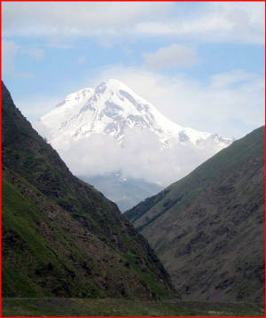 Kasbek Mount in the Caucasus