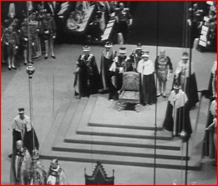 Stone of Scone Coronation Throne after 1952 Coronation of Elizabeth II
