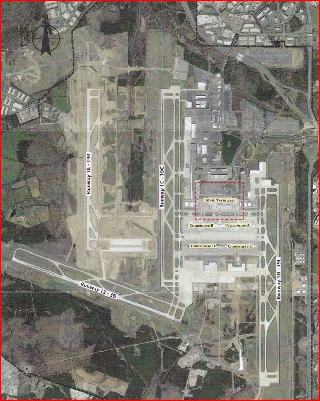 MWAA Aerial View of Dulles Airport